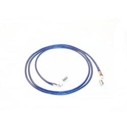 Cordón cuero azul