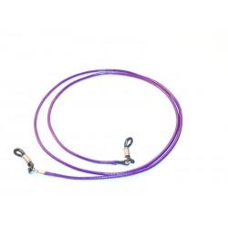 Cordón de cuero violeta