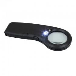 Lupa LED Negra